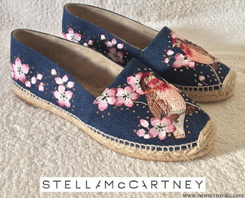 Crown Princess Mary wore Stella McCartney Floral Denim Espadrilles