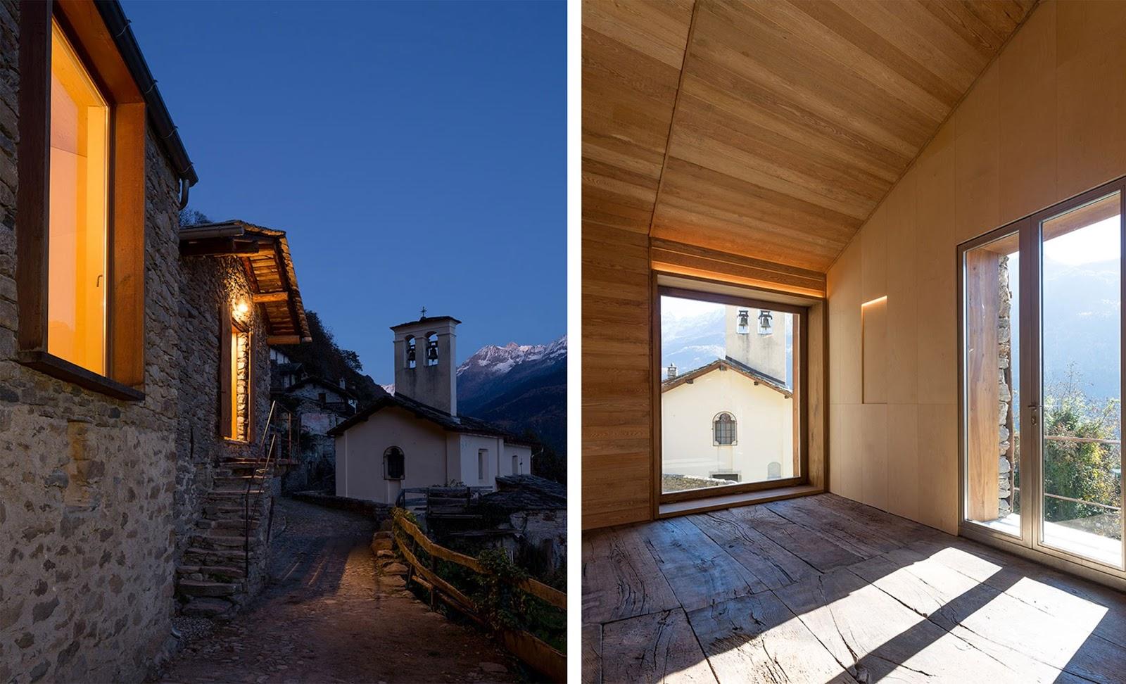 Casa in montagna con muratura in pietra in italia by for Case interni rustici