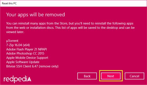 List aplikasi yang akan dihapus