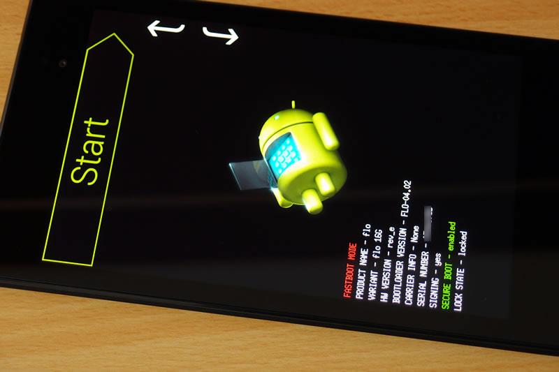 【Nexus7(2013) 】Android 5.0(Lollipop) ファクトリーイメージを焼く 1