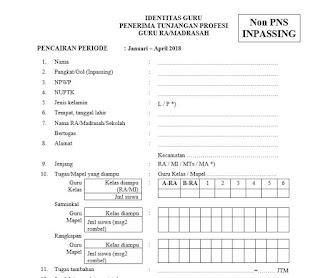 File Identitas Guru Penerima Sertifikasi untuk Non PNS Inpassing