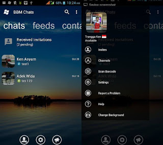 BBM MOD Windows Phone v3.1.0.13 APK with Change Background