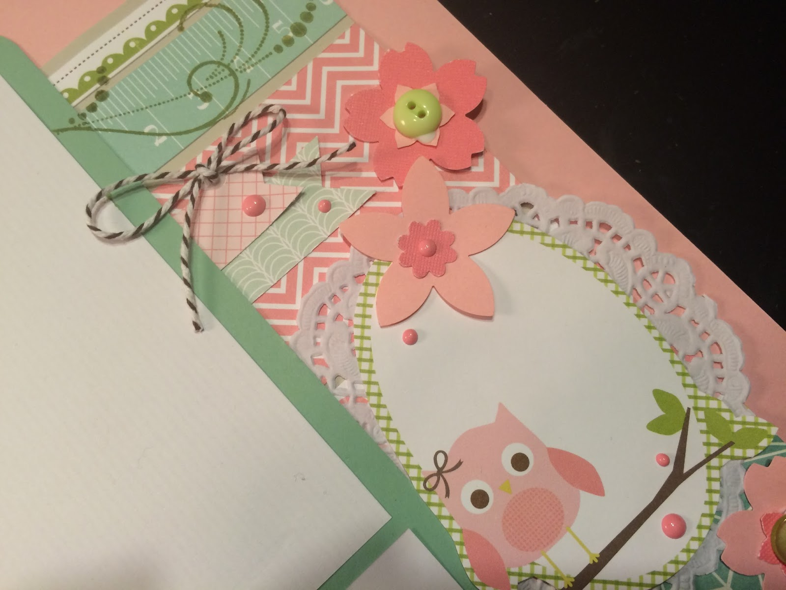 Scrapbook ideas for baby girl - My Latest Customer Requested Gorgeous Baby Girl Pages So Here S What I Came Up With She Was Thrilled With The Results