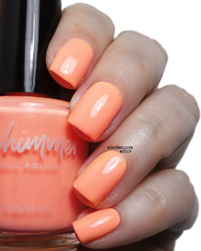xoxoJen's swatch of KBShimmer Papaya Don't Preach