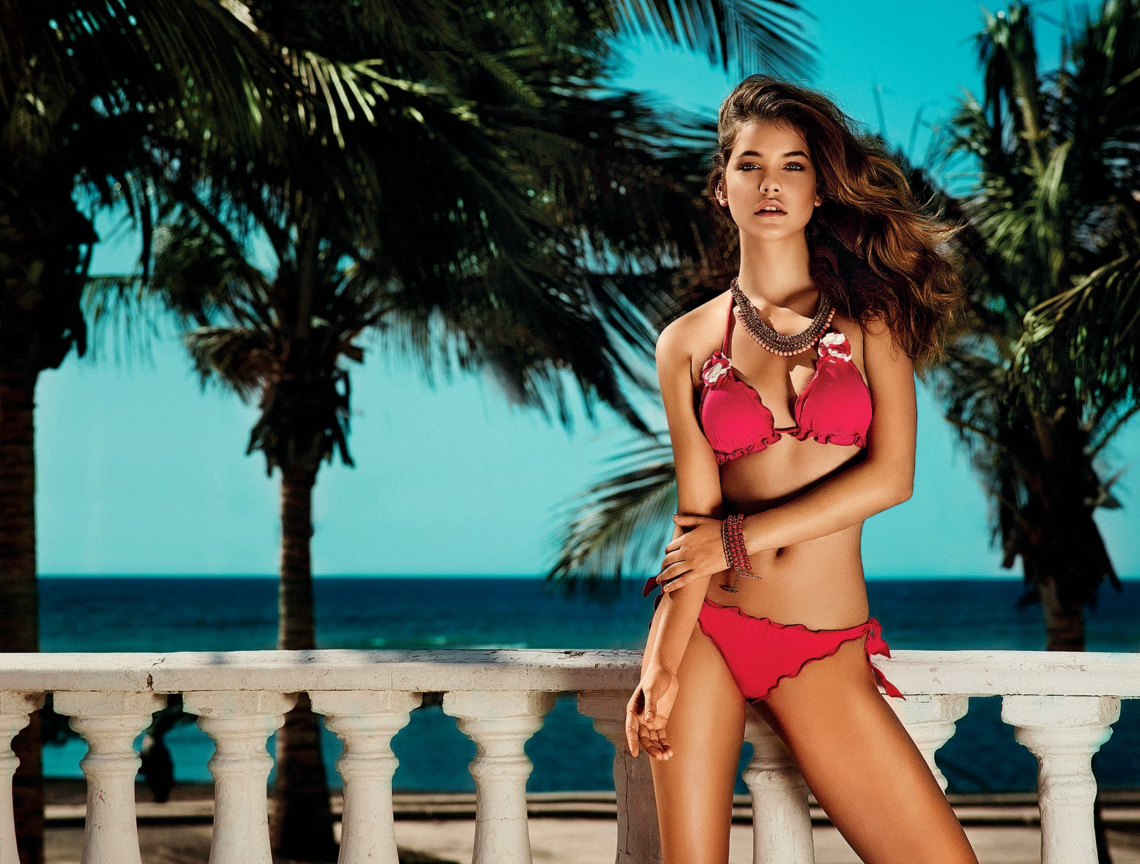 Supermodel Barbara Palvin – Twin-set Beachwear