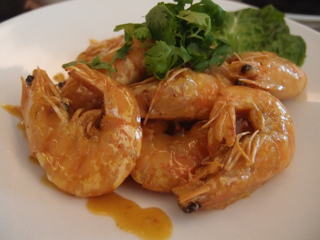 Pan Fried Prawn with Spicy Lemon Milk Cream