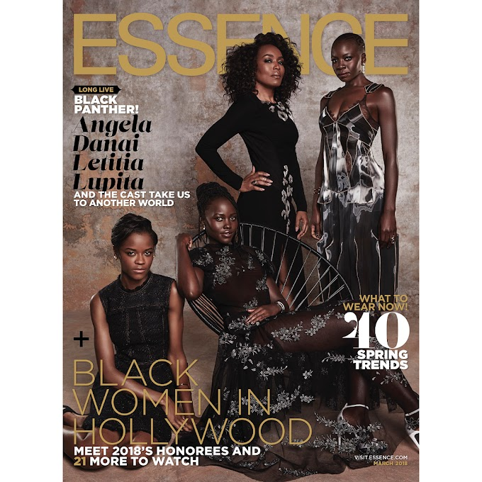 The Stars Of 'Black Panther' Cover Essence Magazine's March 2018 Issue