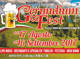Gerundium Fest dal 17 agosto al 16 settembre Casirate D'Adda (BG)