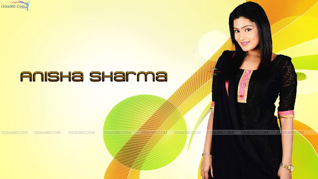 Anisha Sharma in Black Dress Hot Odia Actress HD Wallpaper Download