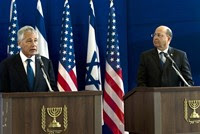Chuck Hagel and Moshe Yaalon