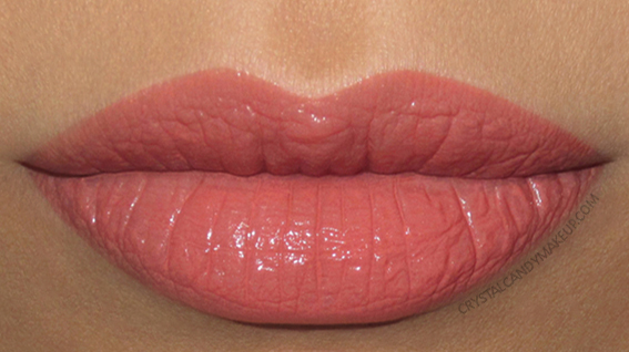 NARS Velvet Lip Glide Liquid Lipstick Swatch Playpen Peachy Rose