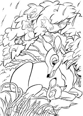 Gambar Mewarnai Bambi - 2