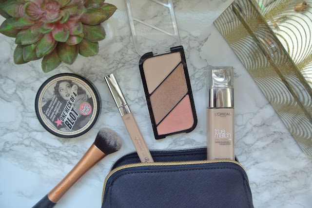 The Basic Base victoriabellxo quick make up in a rush soap and glory rimmel london kate moss sculpting palette one heck of a blot Loreal Paris True Match Foundation Concealer
