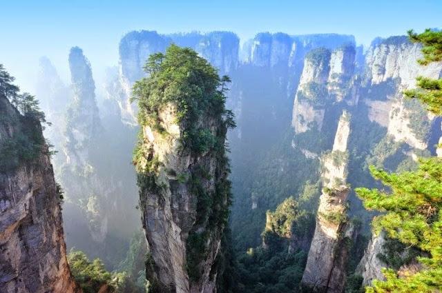 جبال تيانزي، الصين