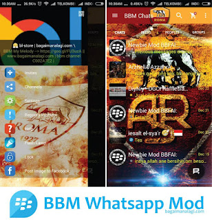 BBM Whatsapp AS Roma Mod Apk