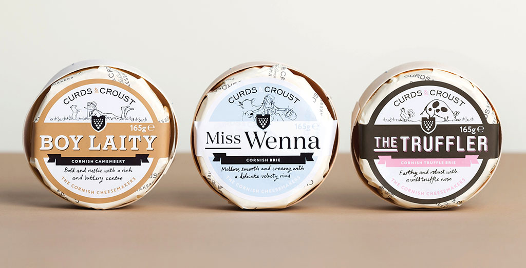 Inspirasi Desain Kemasan Packaging - Curds Croust Cheese