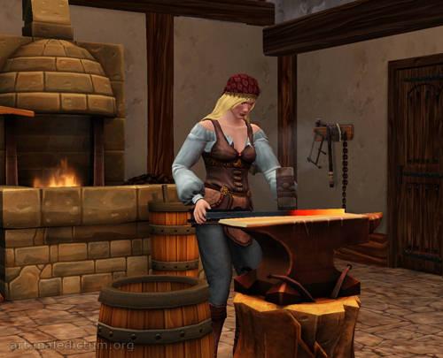 The Sims Medieval - Хуманша покоряет высоты кузнечного дела