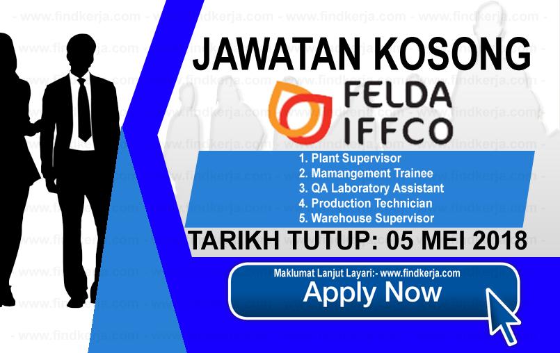 Jawatan Kerja Kosong FELDA IFFCO logo www.findkerja.com mei 2018
