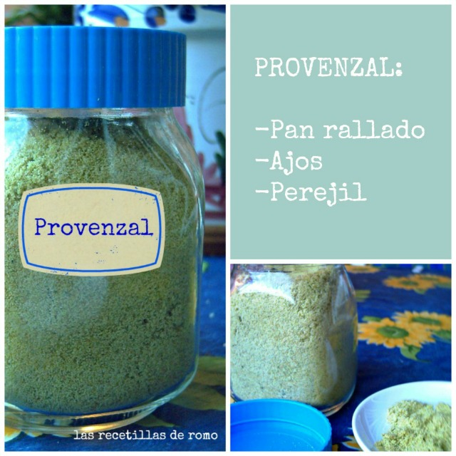 """""""Pan rallado provenzal"""""""