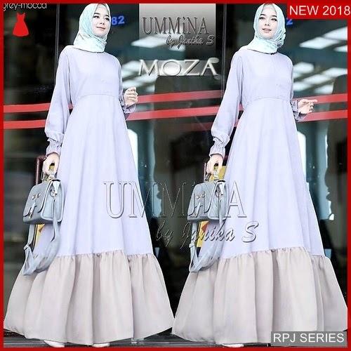 RPJ089D155 Model Dress Moza Cantik Ummina Wanita