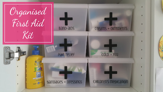 Living Organised: Organised First Aid Boxes