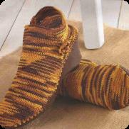 Botines en punto bajo a Crochet o Ganchillo