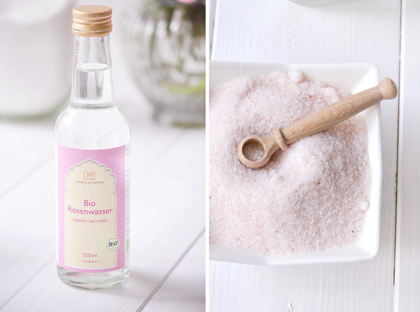 DIY Body Scrub mit Rosenwasser und Limette
