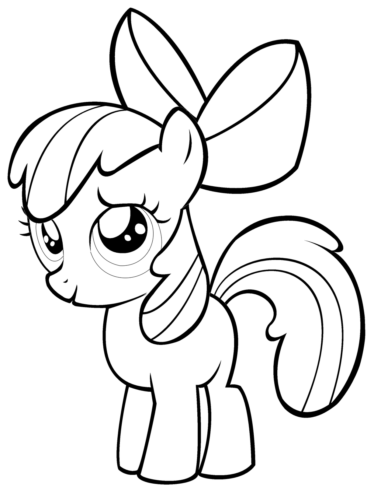 My little pony coloring pages scootaloo pony ~ My Little Pony Coloring Pages Scootaloo
