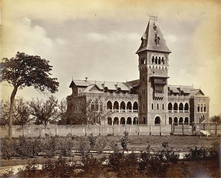 Sir Cowasjee Jehangir Building, Elphinstone College, Bombay (Mumbai) - c1870's