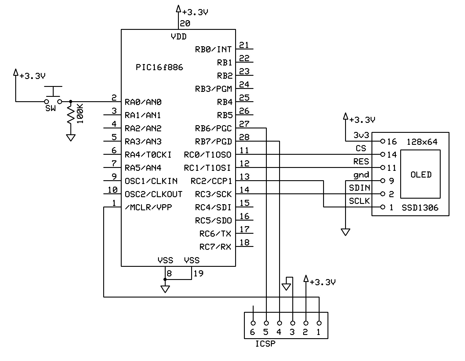 Ssd1306 128x32 Wiring Diagram Arduino OLED Library