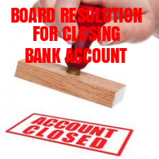 Board-Resolution-Closing-Bank-Account