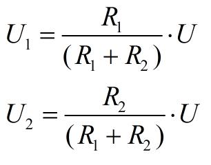 расчёт резисторного делителя напряжения