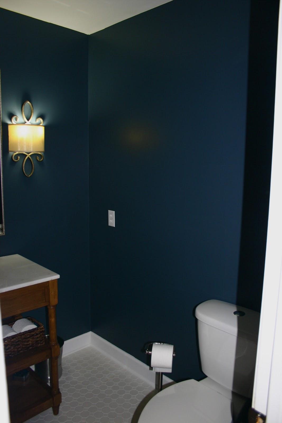 Blue Half Bathroom: Words With The Williams: Half Bath Reveal