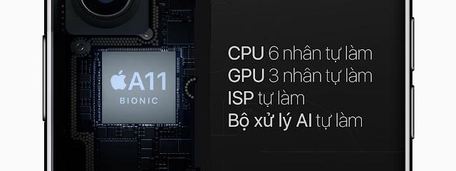 Chi tiết về CPU Apple A11 Bionic được trang bị trong iPhone X