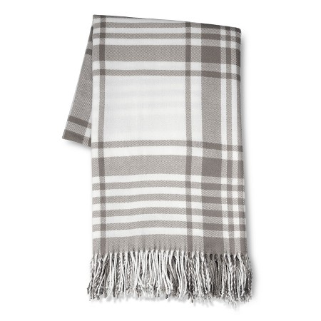 farmhouse plaid throw