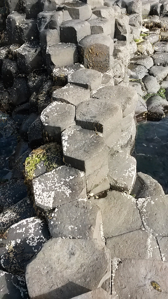 Hexagonal rock formation at the Giant's Causeway