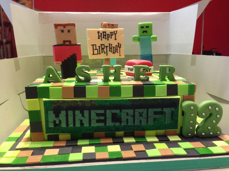 The Sensational Cakes Feedback Minecraft 3d Cake Singapore