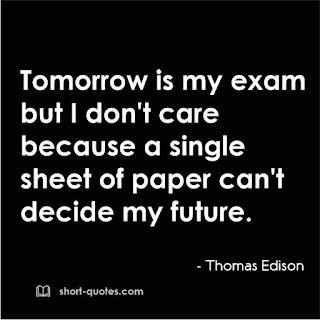 exam quote thomas a edison