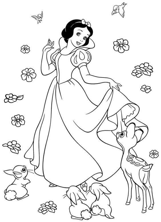 Tranh tô màu nàng công chúa Bạch Tuyết 9