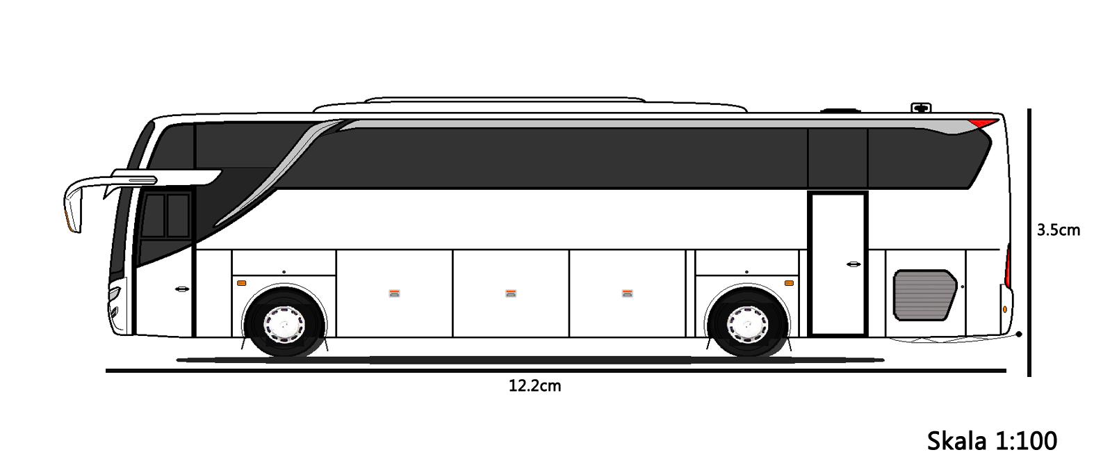 Ukuran Skala Miniatur Bus Shd