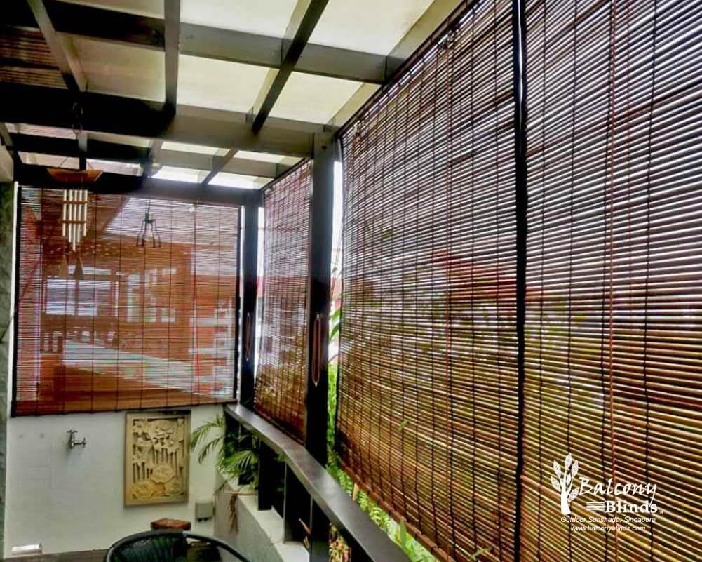 cara membuat tirai bambu