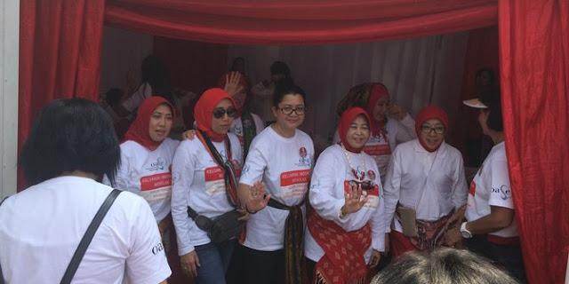 Istri Menteri Hingga Kapolri kumpul di Bundaran HI, kampanye Anti Narkoba, Pornografi Dan kekerasan
