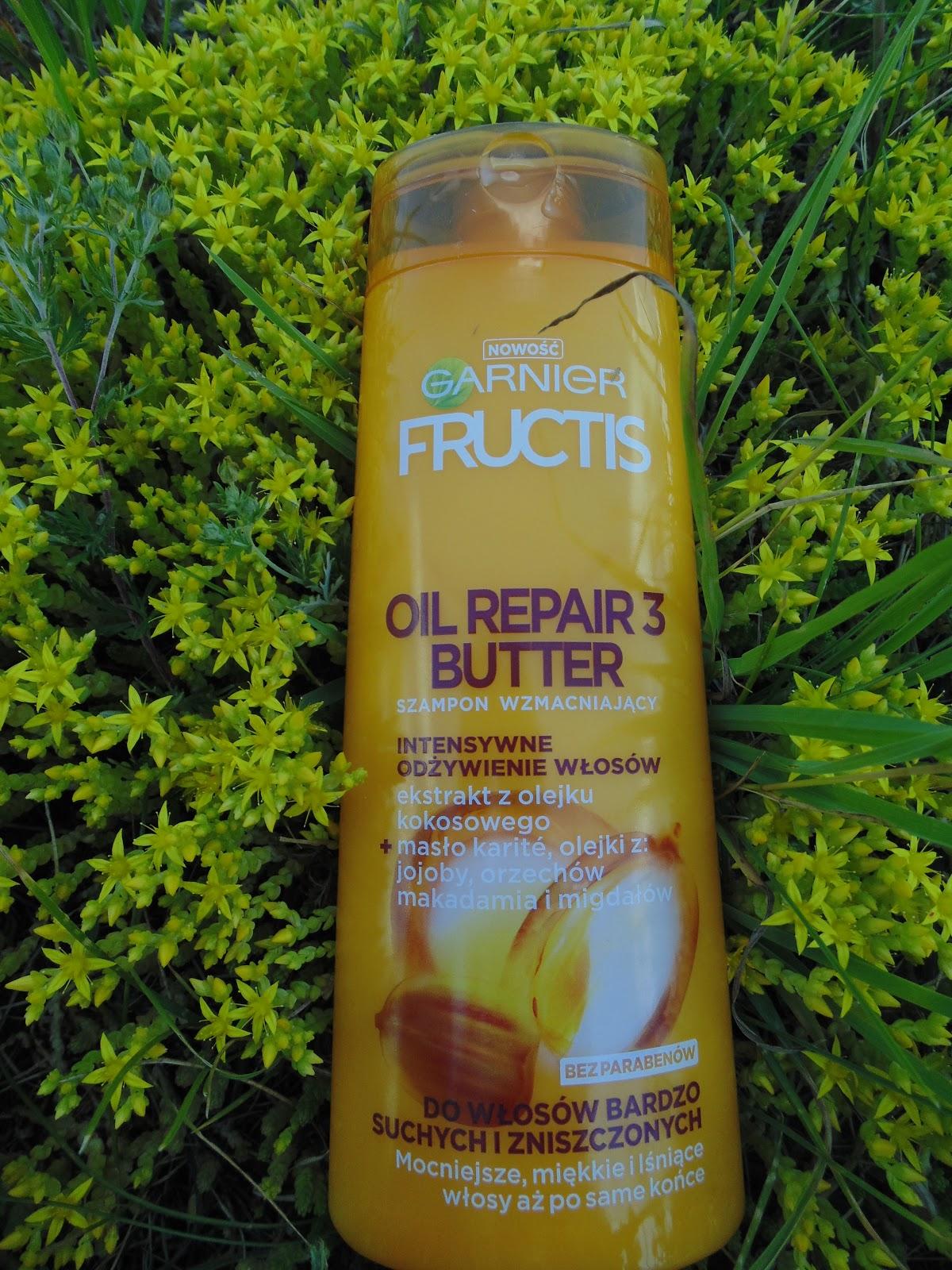 Garnier fructis Oil Repair 3 butter szampon do włosów bardzo suchych i zniszczonych