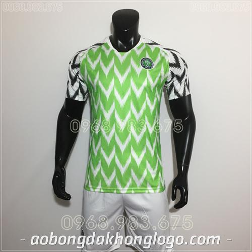 Áo Bóng Đá Đội Tuyển Nigieria Xanh 2019