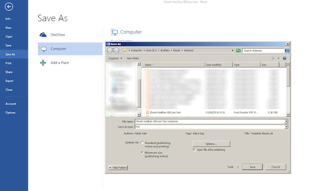 Cara Memperkecil Ukuran File PDF Offline dengan Microsoft Word