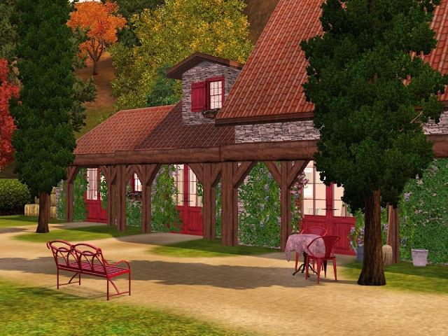 maison de campagne Sims 3