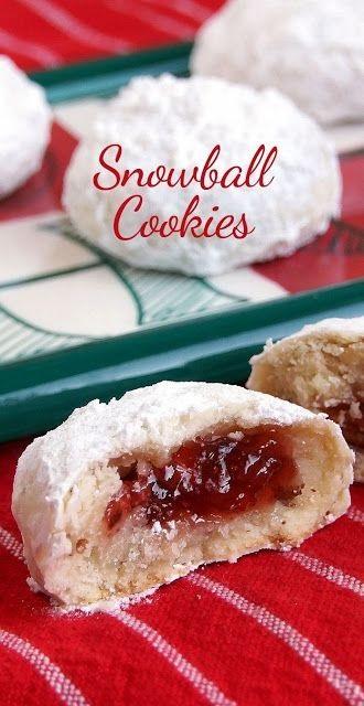 Jam-Filled Snowball Chirstmas Cookies