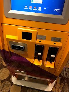 Traveler's Box leftover coins deposit machine