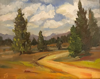 Oil Painting of the Sierras by Jill Treadwell SVendsen