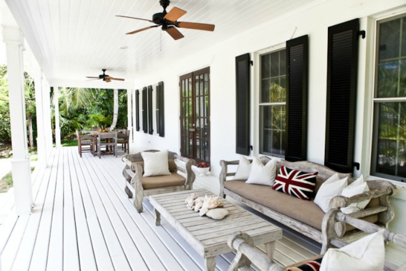 British Colonial, Coastal, Outdoor space